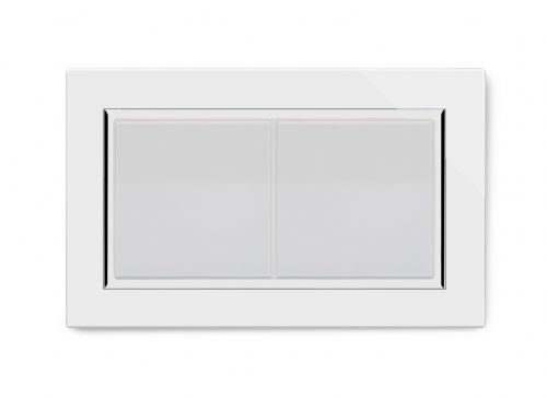 RetroTouch Double Blank Plate White Glass CT 00670